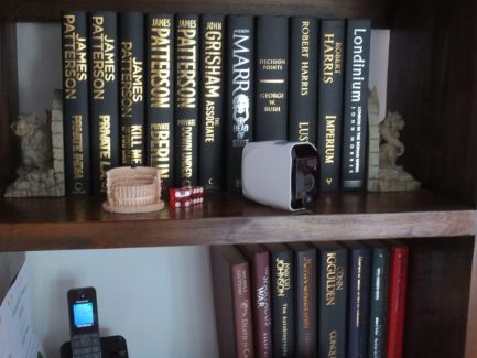 BC5 WIFI Security Camera on Bookshelf