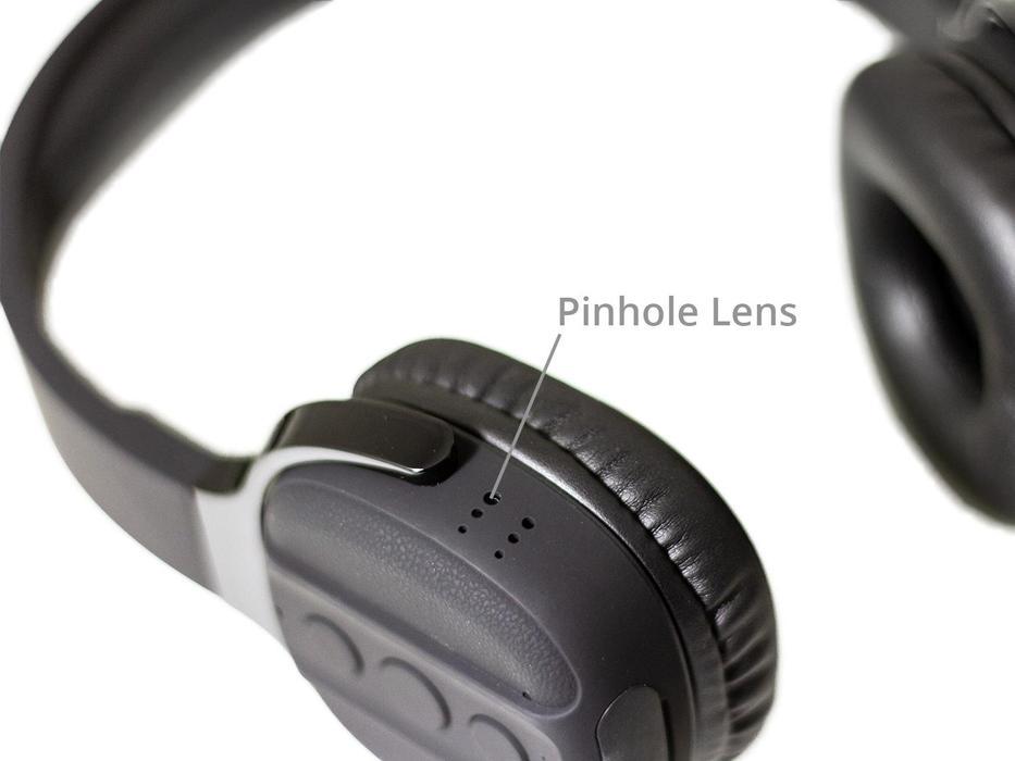 Covert body worn camera hidden in headphones
