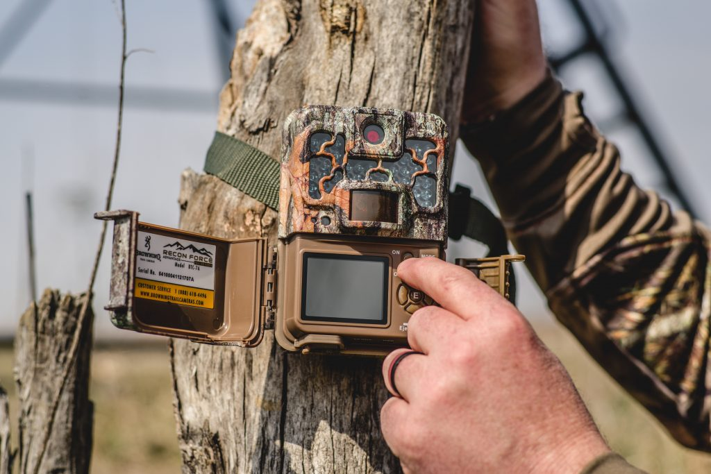 Trail Camera being set up for use